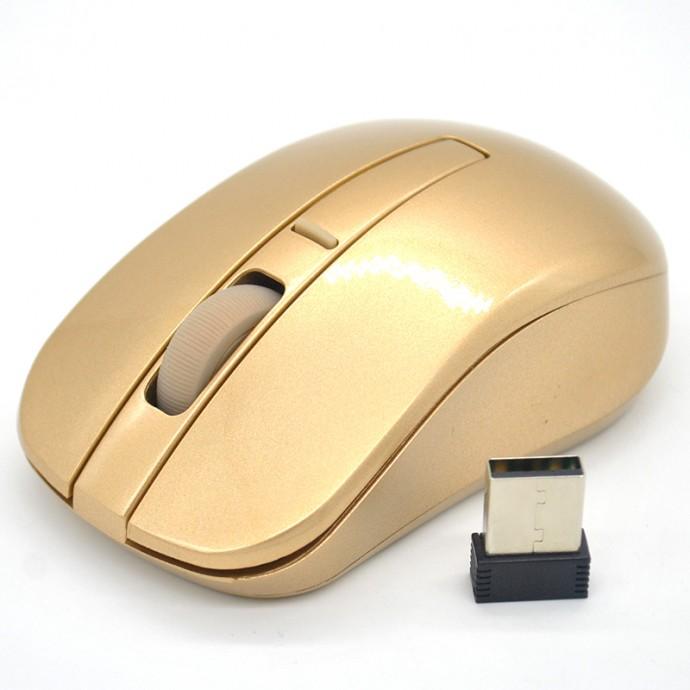 Золотая компьютерная мышка